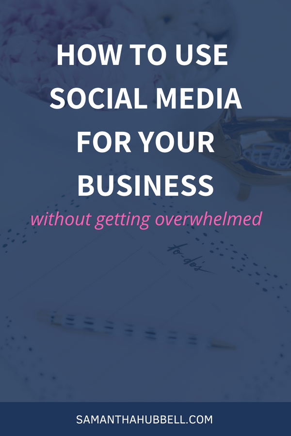 Social media can feel really overwhelming, but IT IS possible to use social media for your business without getting overwhelmed. The key is to start slowly.