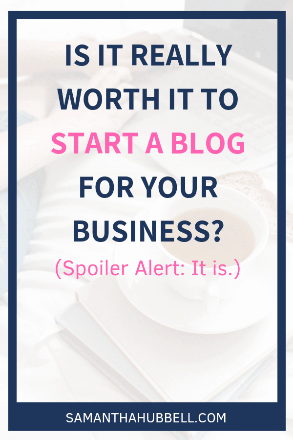 In a noisy world where people are marketed to thousands of times a day, blogging for your business can help you stand out by providing value that doesn't require a purchase.
